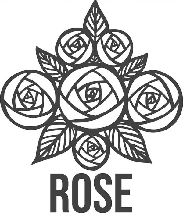 Rose#1black